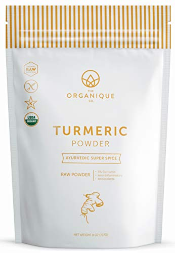 The Organique Co.-The Organique Co. Turmeric Root Powder with 4.5-5% Curcumin – 8 Ounce, Resealable Bag – Certified Organic, 100% Pure, Raw, Non-GMO Supplement – DIY Face Scrub, Mask, and Wash – Sustainably Sourced