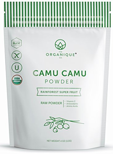 The Organique Co.-Camu Camu Powder - Certified Organic, Raw Natural Whole Food Vitamin C - Minerals, Antioxidants, Real Fruit, Non-GMO, Vegan, Gluten Free, Paleo - by The Organique Co. 8oz