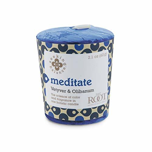 Root Candles-Root Candles Seeking Balance Aromatherapy 20-Hour Votive Candle, Meditate: Vetyver & Olibanum