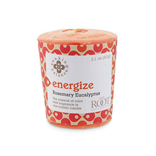 Root Candles-Root Candles Seeking Balance Aromatherapy 20-Hour Votive Candle, Energize: Rosemary Eucalyptus