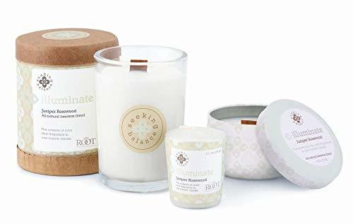 Root Candles-Root Candles Seeking Balance Aromatherapy 20-Hour Votive Candle, Illuminate: Juniper Rosewood