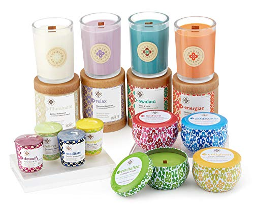 Root Candles-Root Candles Seeking Balance Spa Traveler Candle, Relieve: Eucalyptus Menthol