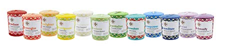 Root Candles-Root Candles Seeking Balance Aromatherapy 20-Hour Votive Candle, Relieve: Eucalyptus Menthol