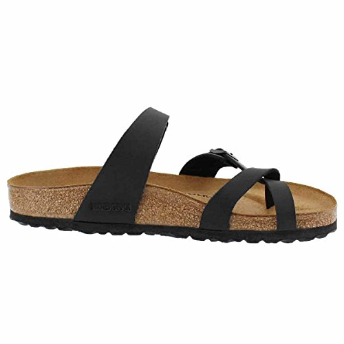 Birkenstock-Birkenstock Women's Mayari Adjustable Toe Loop Cork Footbed Sandal Black 40 M EU