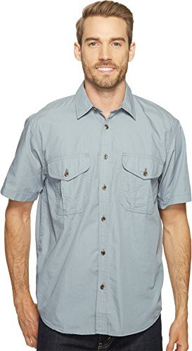 Filson-Filson Men's Short Sleeve Feather Cloth Shirt Smoke Blue X-Small