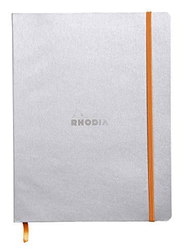 Rhodia-Rhodia Rhodiarama Softcover Notebook - 80 Dots Sheets - 9 3/4 x 7 1/2 - Silver Cover